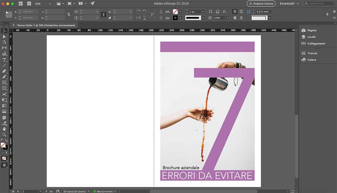 Programma per brochure Adobe InDesign