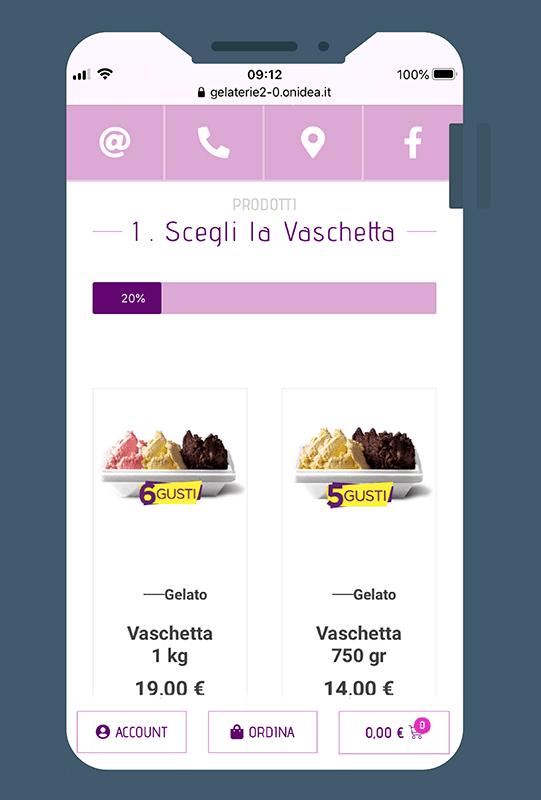 ecommerce gelateria