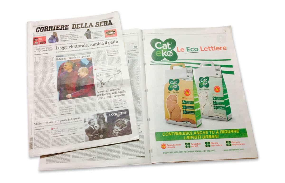 Campagna stampa su Corriere della Sera