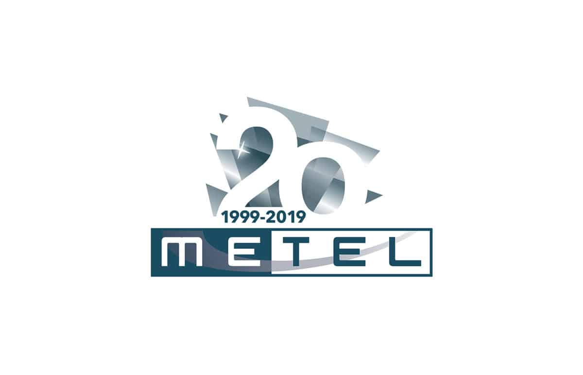 Logo 20 anni Metel