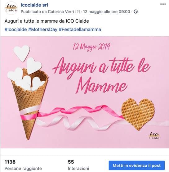 Post Facebook festa della mamma